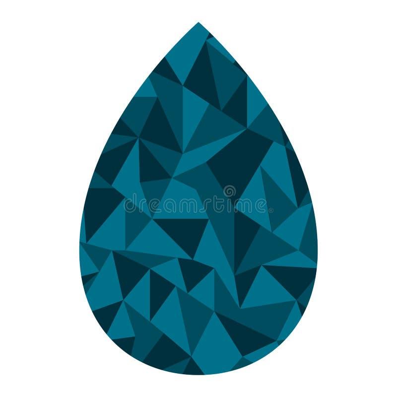 Голубая вода падения изолированная на белизне бесплатная иллюстрация