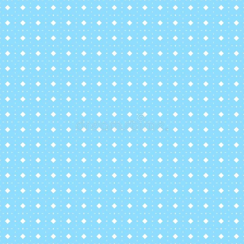 голубая геометрическая картина безшовная иллюстрация вектора предпосылки иллюстрация вектора