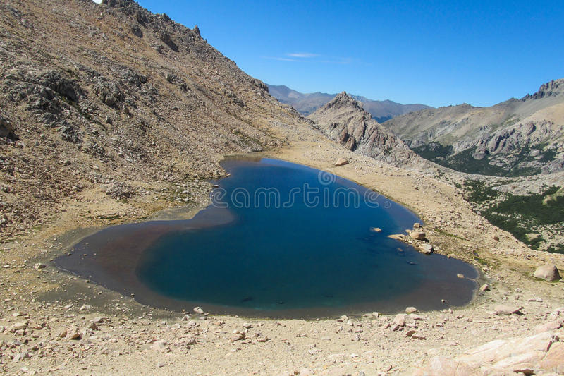 голубая гора озера стоковые фото