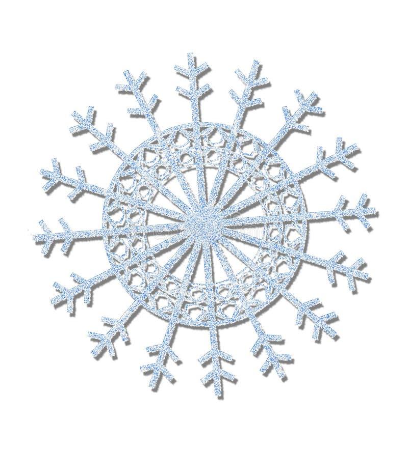 голубая замороженная снежинка бесплатная иллюстрация