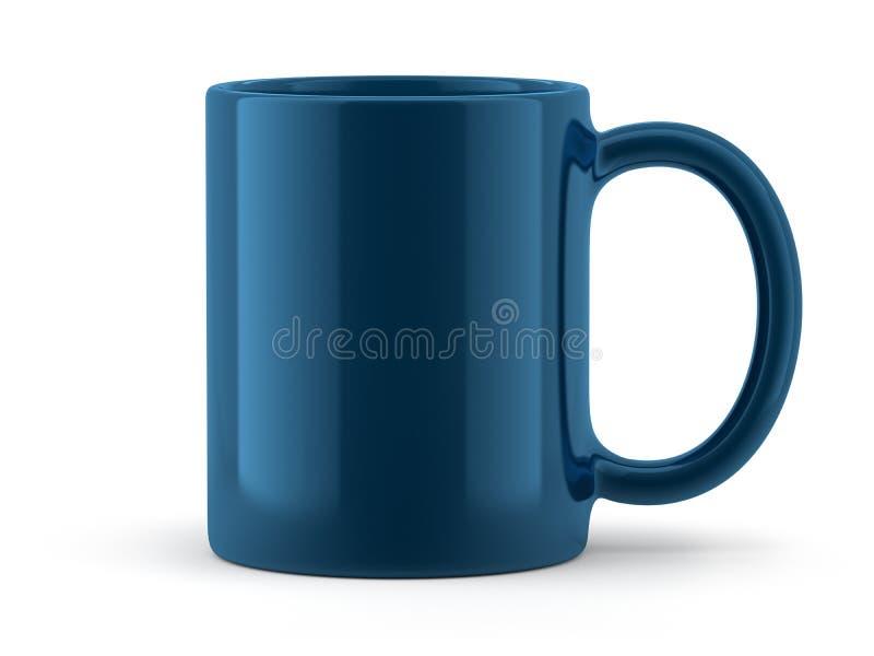 Голубая изолированная кружка стоковое изображение