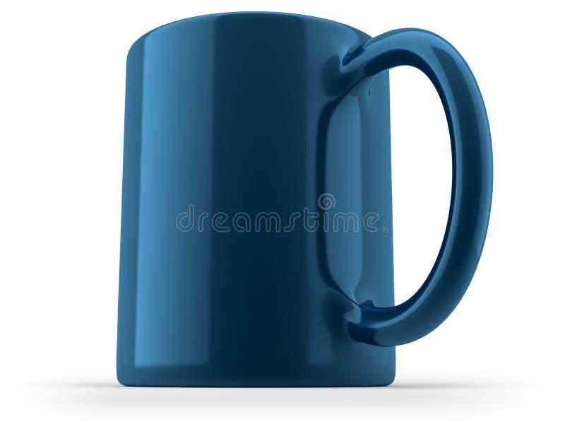 Голубая изолированная кружка стоковая фотография rf