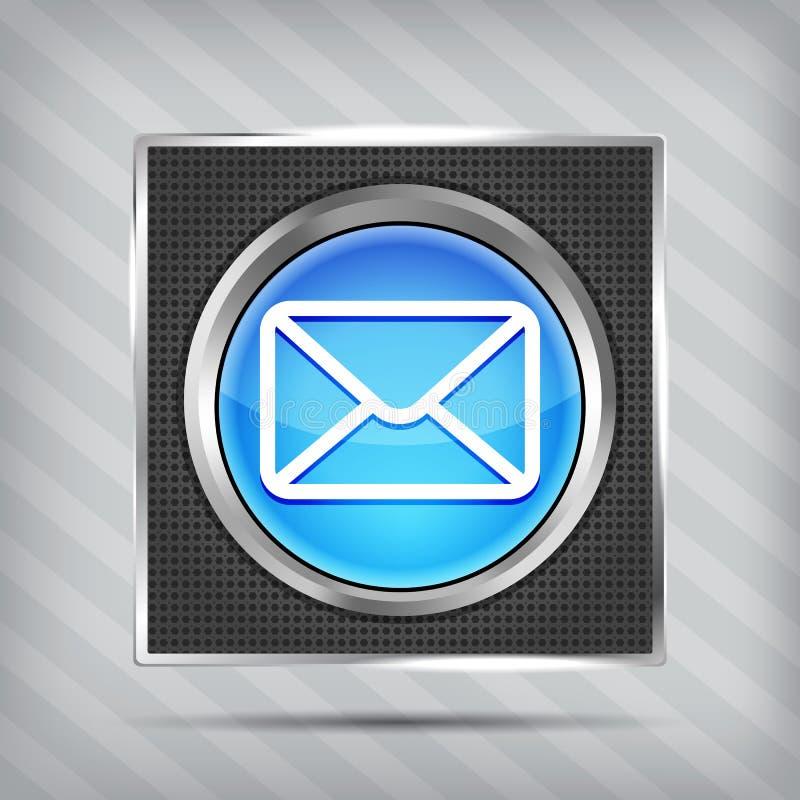 Голубая икона кнопки электронной почты бесплатная иллюстрация