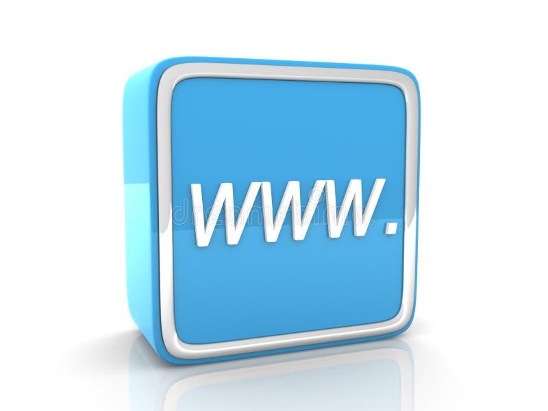 Голубая икона WWW иллюстрация вектора