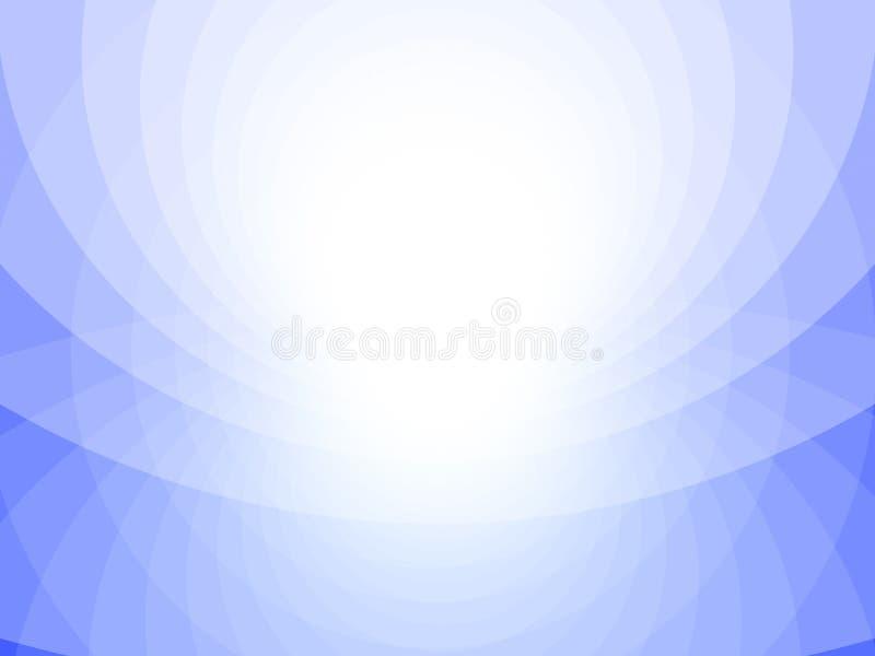 Голубая и белая абстрактная предпосылка, круги бесплатная иллюстрация