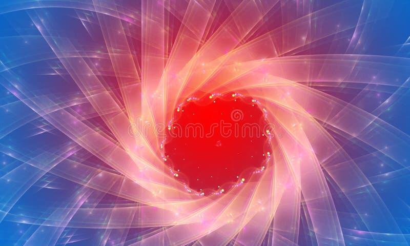 Голубая и красная абстрактная предпосылка. Увядает влияние иллюстрация вектора
