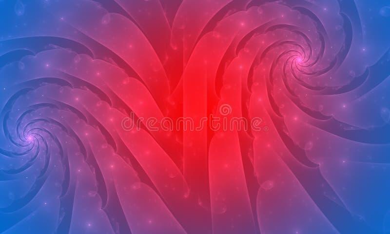 Голубая и красная абстрактная предпосылка. Увядает влияние иллюстрация штока