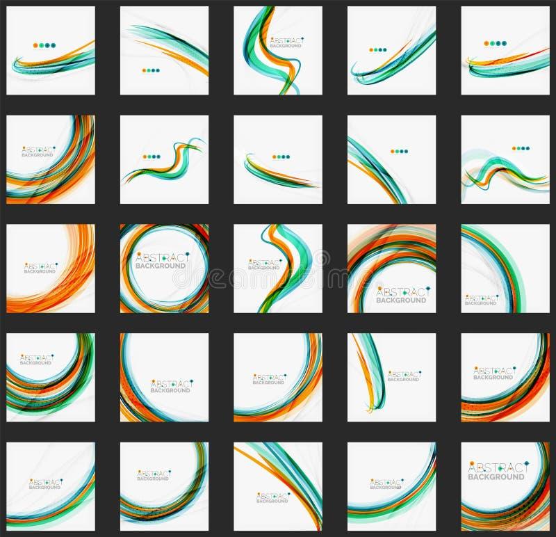 Голубая и оранжевая предпосылка конспекта цветного барьера иллюстрация вектора