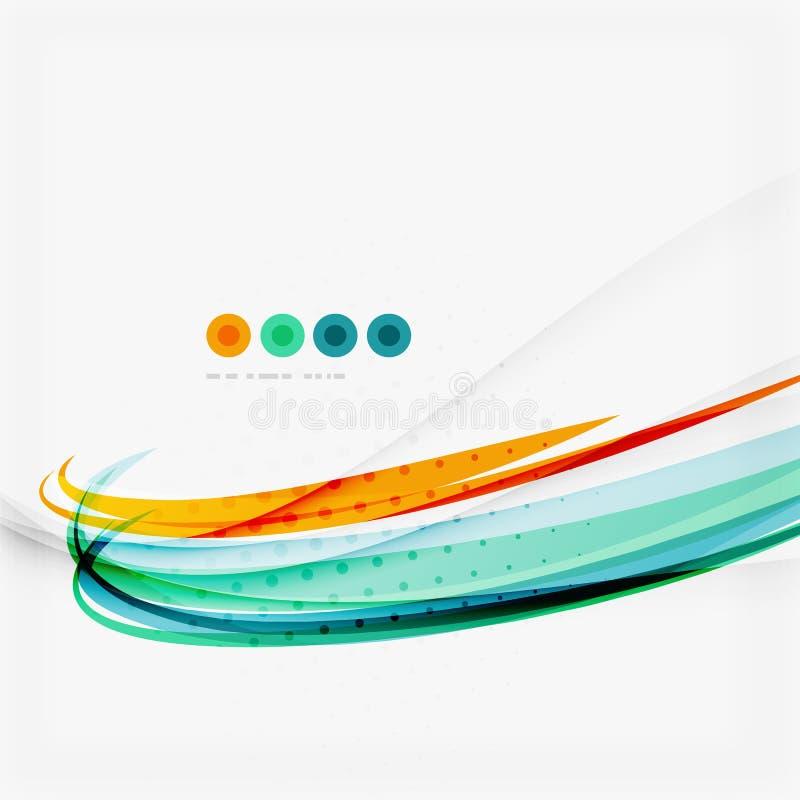Голубая и оранжевая предпосылка конспекта цветного барьера бесплатная иллюстрация