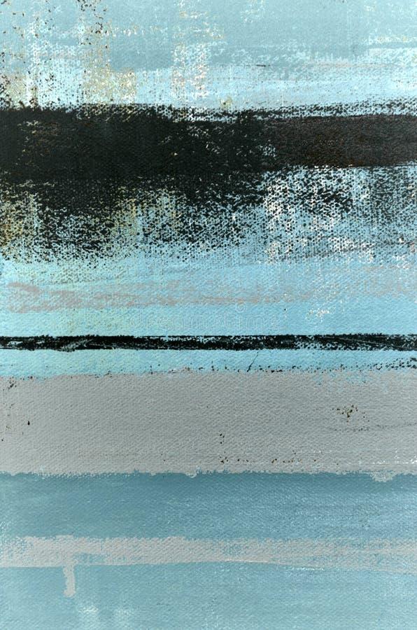 Голубая и серая картина абстрактного искусства стоковые фотографии rf