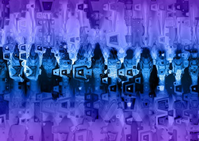 Голубая и фиолетовая текстура предпосылки Grunge иллюстрация вектора