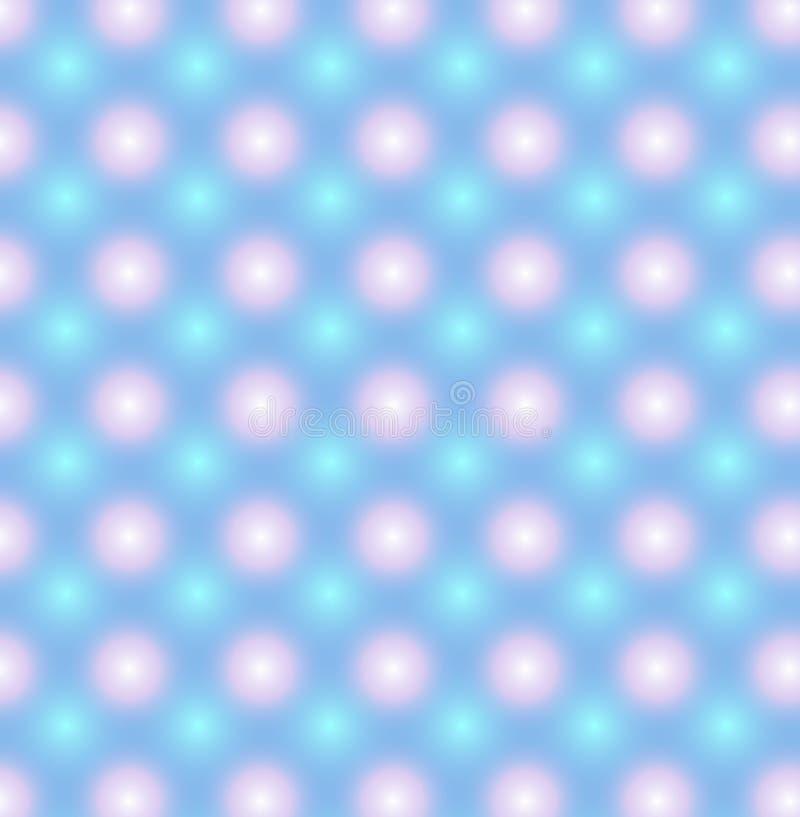 Голубая картина с розовыми и голубыми накаляя кругами иллюстрация вектора