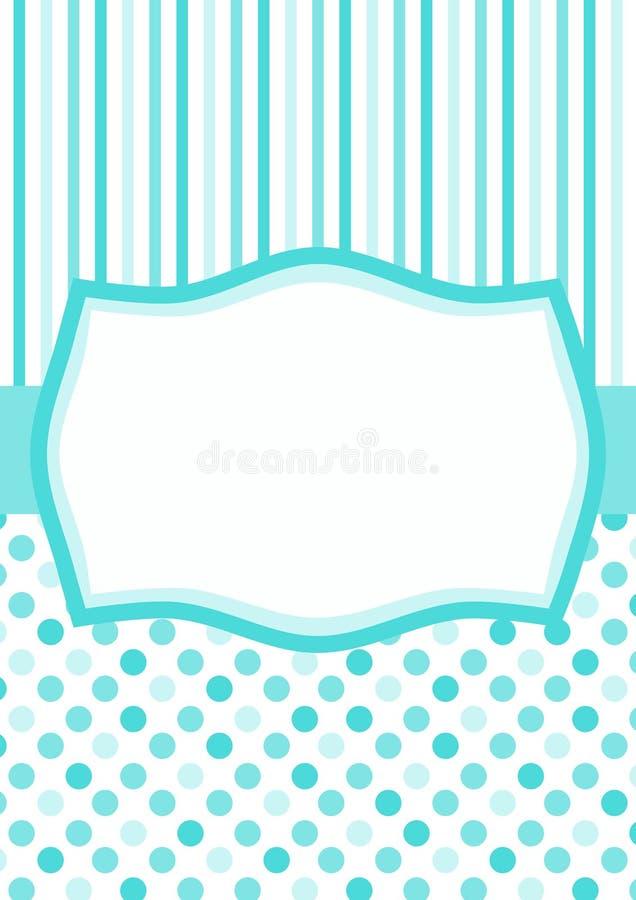 Голубая карточка дня ` s отца иллюстрация вектора