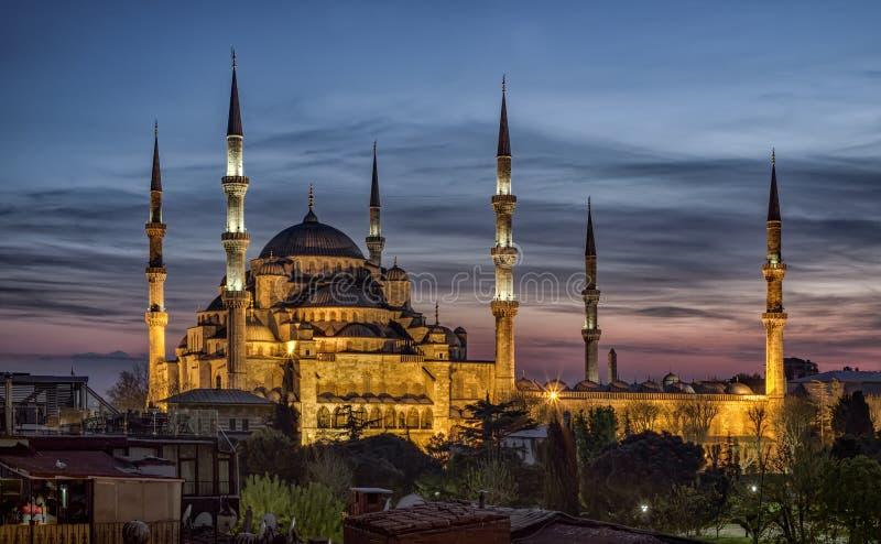 Голубая мечеть в Стамбуле, Турции стоковые изображения rf