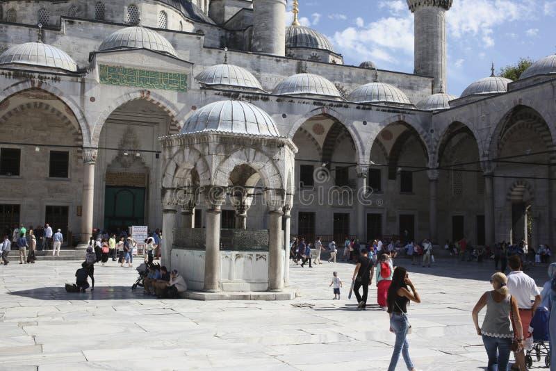голубая мечеть стоковые фотографии rf
