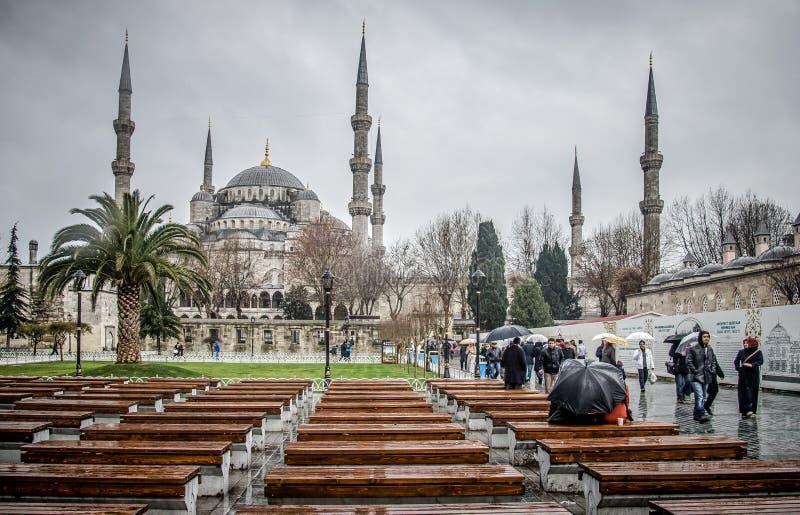 Голубая мечеть, Sultanahmet Camii, Стамбул, Турция стоковая фотография rf
