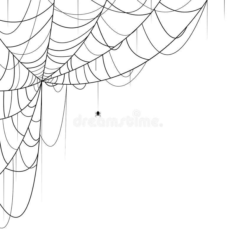 голубая мягкая сеть подкраской спайдера иллюстрация вектора