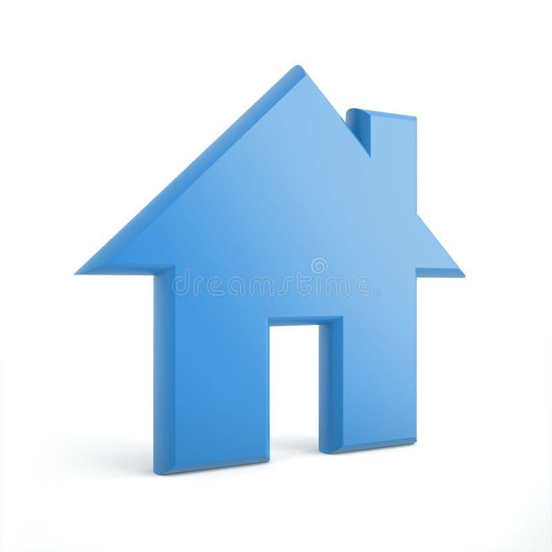 голубая домашняя икона 3d иллюстрация штока