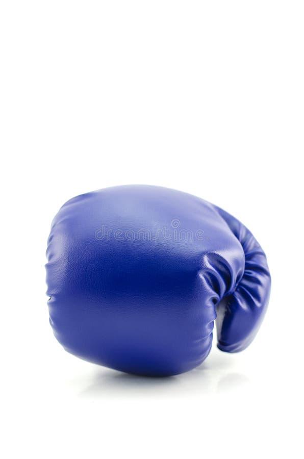 Голубая перчатка бокса стоковая фотография