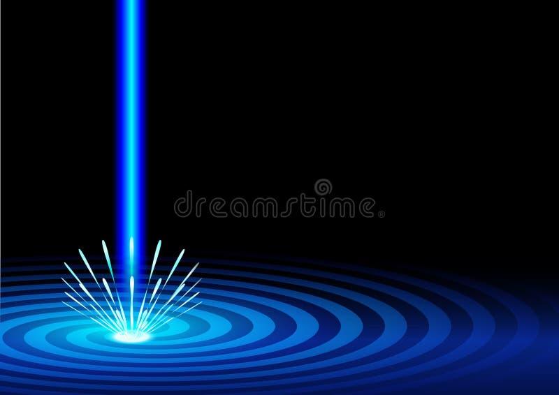 Голубая предпосылка лазера иллюстрация штока