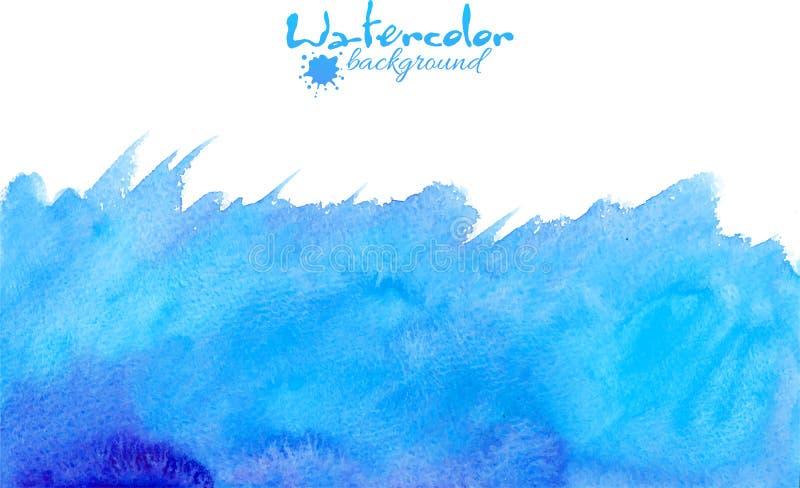 Голубая предпосылка вектора акварели иллюстрация вектора