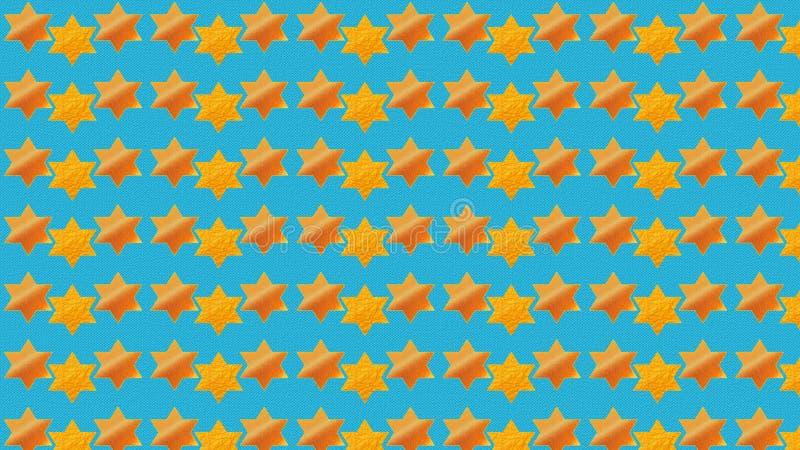 Голубая предпосылка Звезда Давида бесплатная иллюстрация