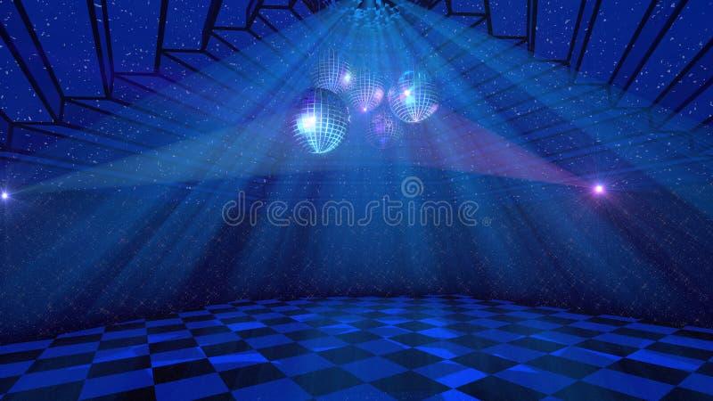 Голубая предпосылка диско иллюстрация штока