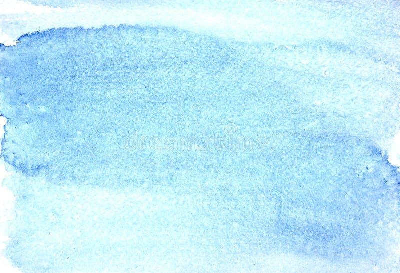 Голубая предпосылка конспекта акварели иллюстрация вектора