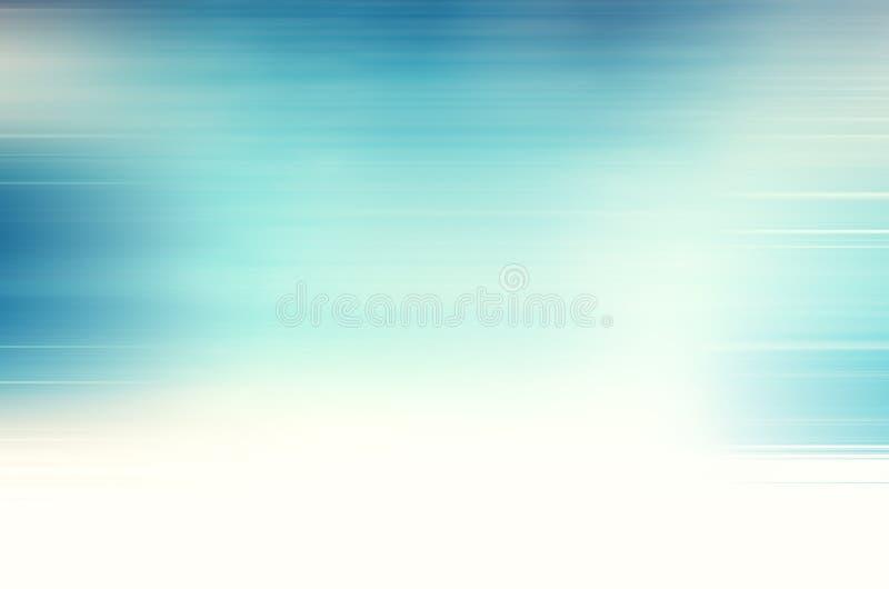 Голубая предпосылка конспекта нерезкости движения иллюстрация штока