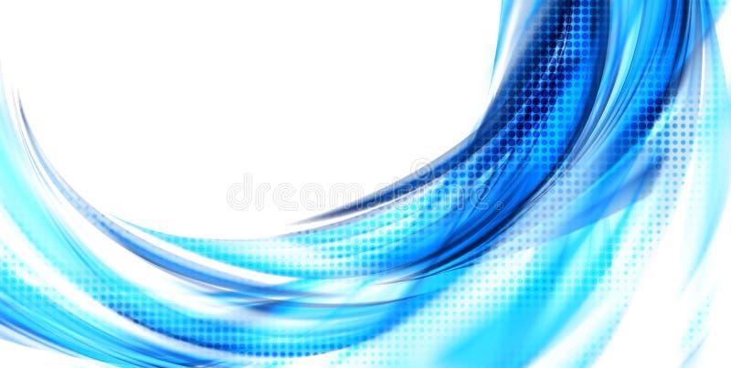 Голубая предпосылка конспекта цвета иллюстрация вектора