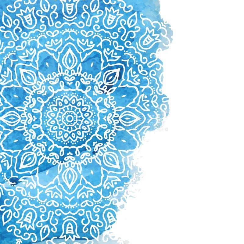 Голубая предпосылка краски акварели бесплатная иллюстрация