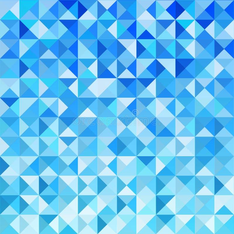 Голубая предпосылка мозаики иллюстрация вектора