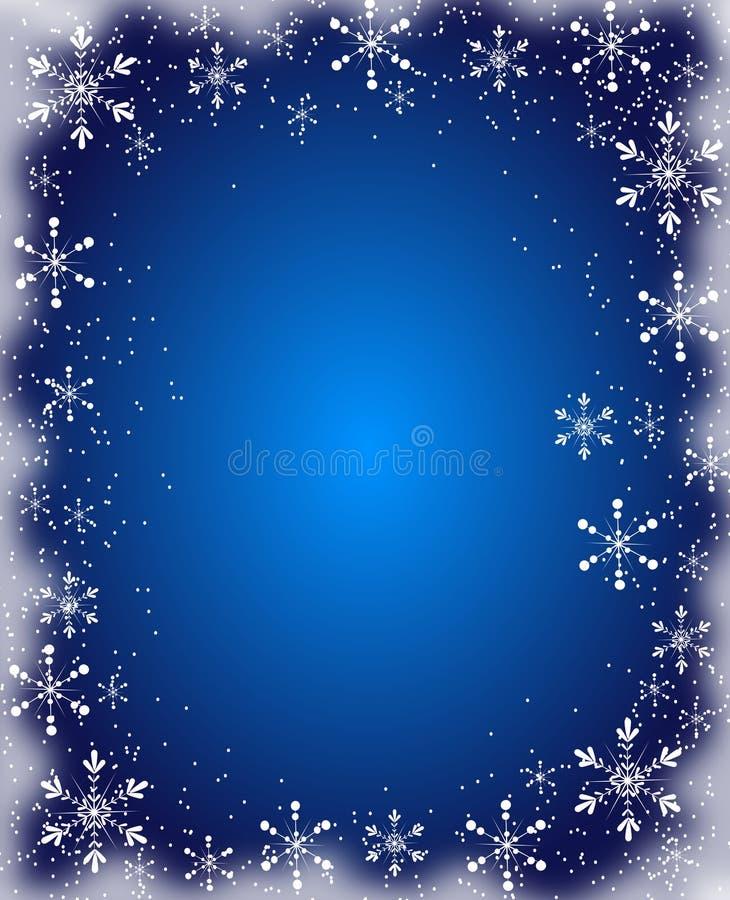 Голубая предпосылка рождества иллюстрация вектора