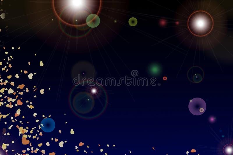 Голубая предпосылка сердца иллюстрация вектора