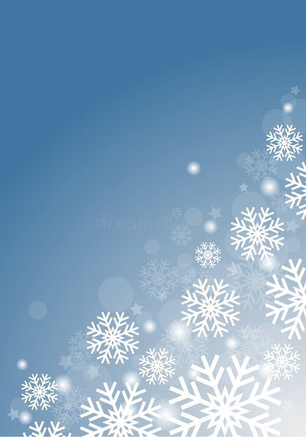 Голубая предпосылка с снежинками стоковое фото rf