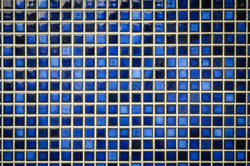 Голубая предпосылка текстуры плиток мозаики тона стоковое фото rf