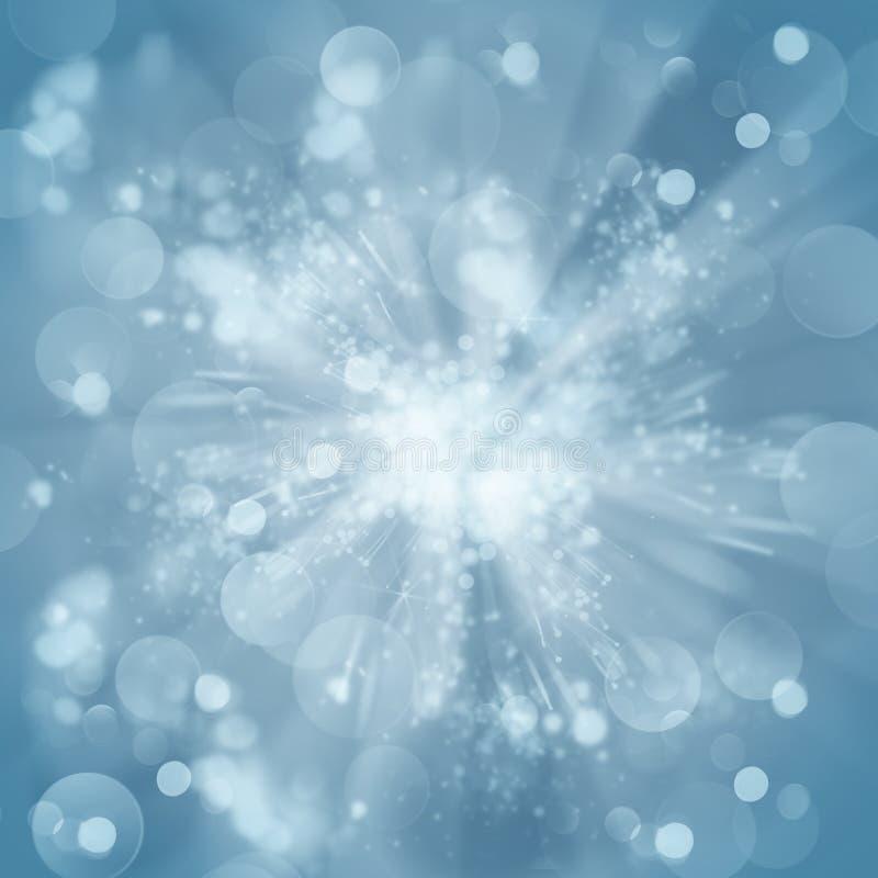 Голубая предпосылка bokeh рождества стоковое изображение