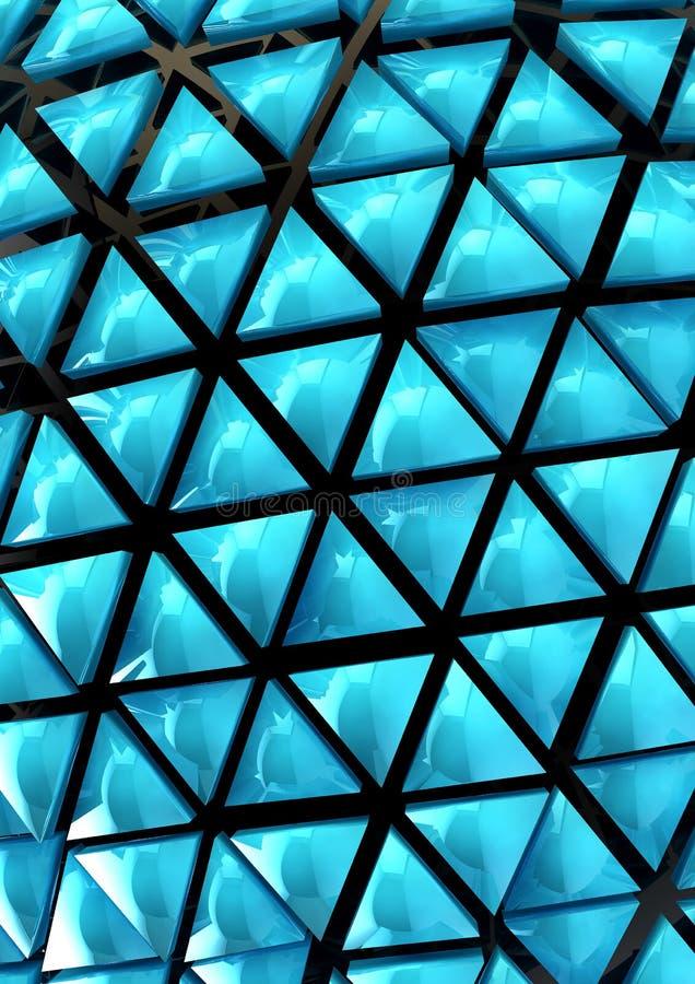 Голубая предпосылка 3D иллюстрация штока