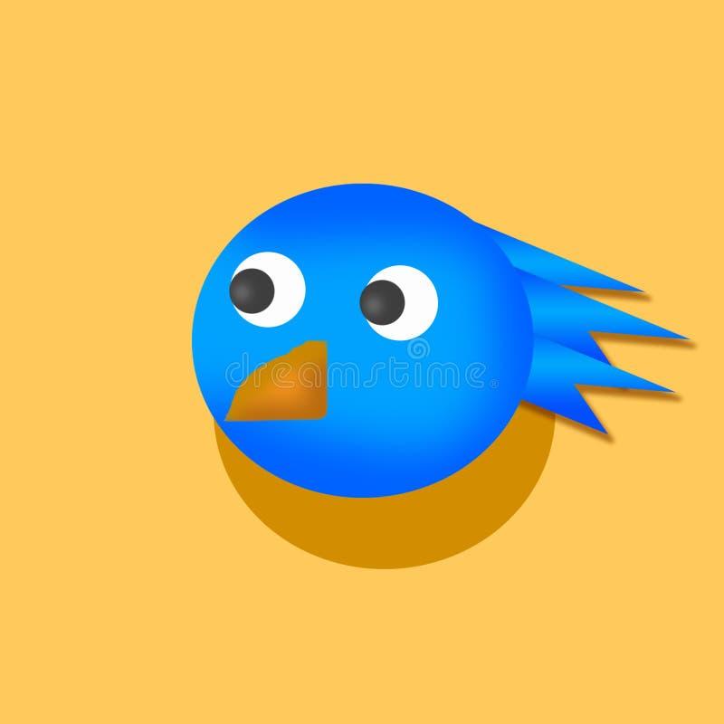 Голубая птица стоковая фотография rf
