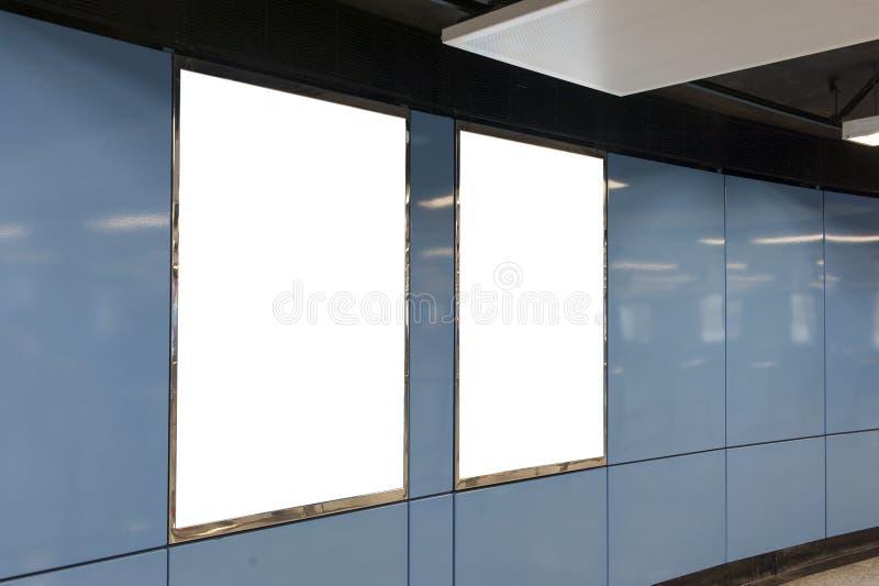 Голубая пустая афиша стоковое изображение rf