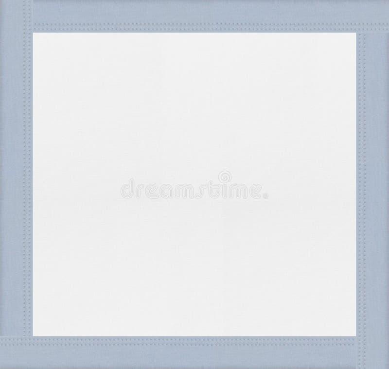 Голубая рамка предпосылки ткани стоковая фотография
