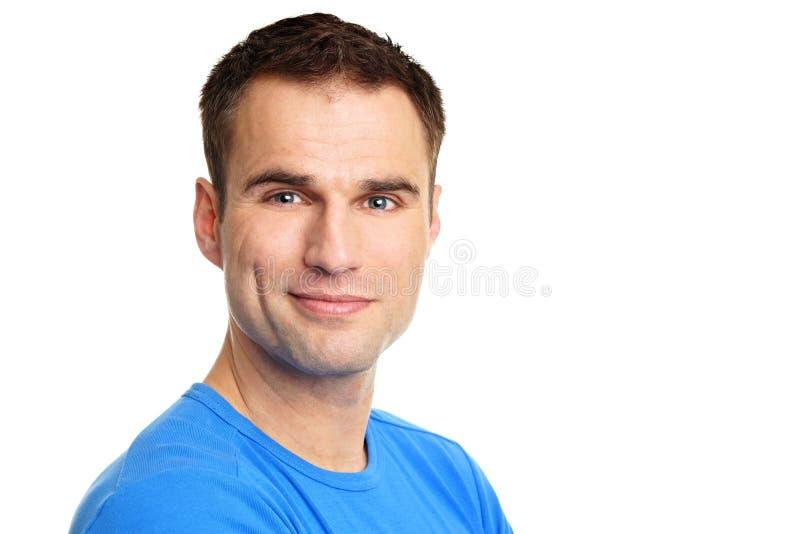 голубая рубашка человека стоковая фотография rf