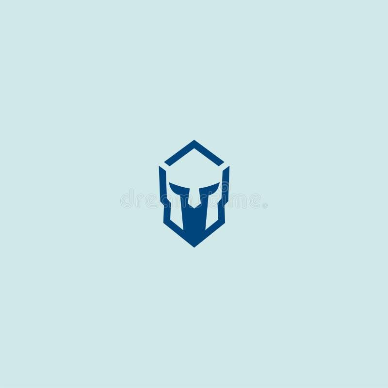 Голубая спартанская маска стоковые фото