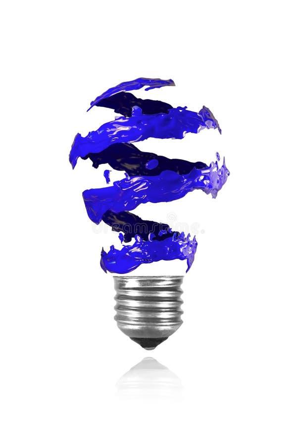 Download Голубая спиральная трассировка краски сделала электрическую лампочку Иллюстрация штока - иллюстрации насчитывающей электрическо, стекло: 40577463