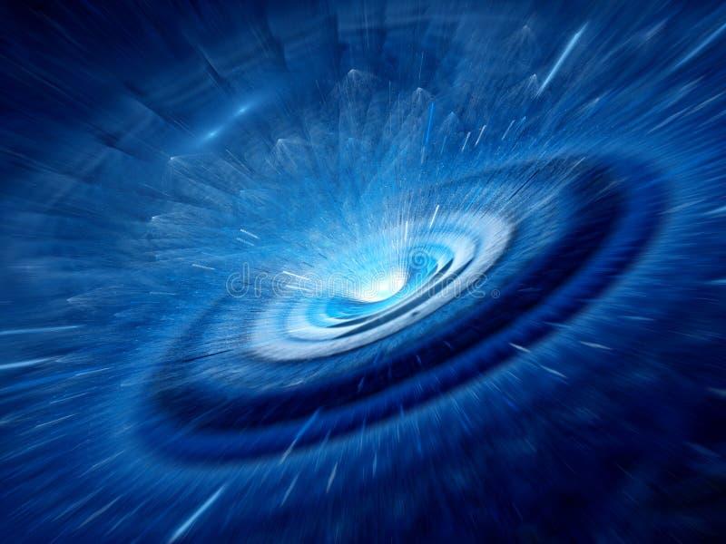 Голубая спиральная червоточина стоковое фото