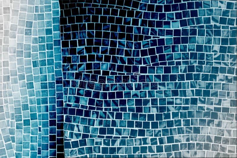 Голубая стена плитки мозаики стоковые фотографии rf