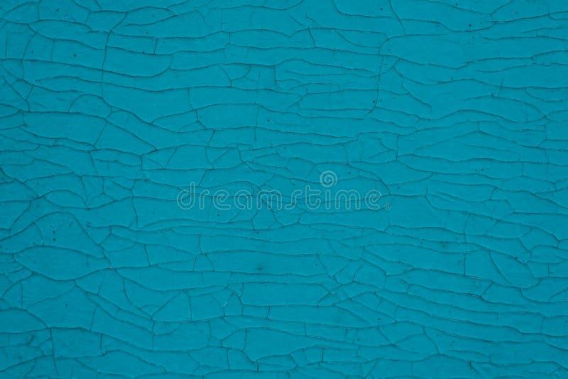Голубая стена с cracelures стоковое изображение rf