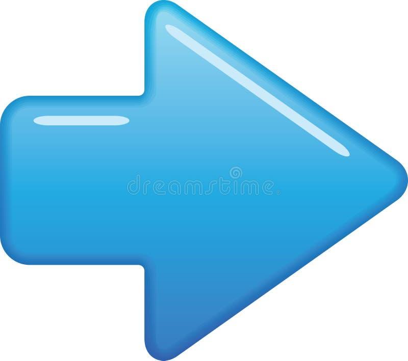 Голубая стрелка иллюстрация вектора