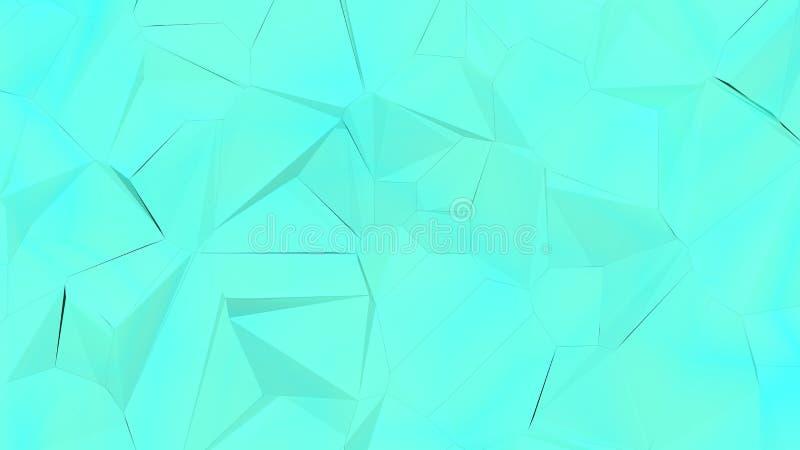 голубая случайная предпосылка trigonals 3d стоковые изображения