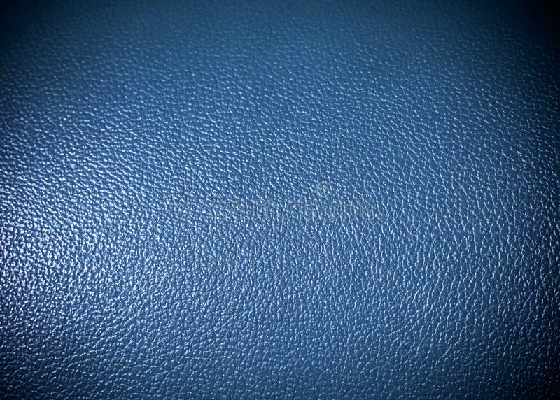 Голубая текстура поверхности leatherette как текстура grung предпосылки стоковая фотография rf